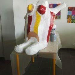 La Nana réalisée par des élèves selon la Nana de Niki Saint Phalle